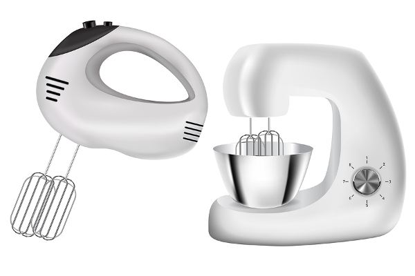 Hand Mixer And Stand Mixer Vector Illustration Isolated