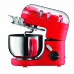 Red BODUM Kitchen Stand Mixer being reviewed