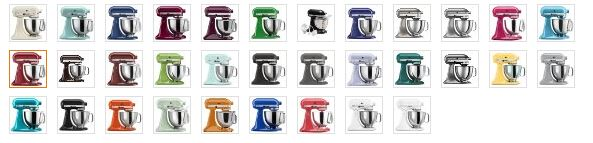 KitchenAid Mixer Colors - Kitchen Tools